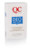 QC Deo Wet Whipes, box of 10 whipes